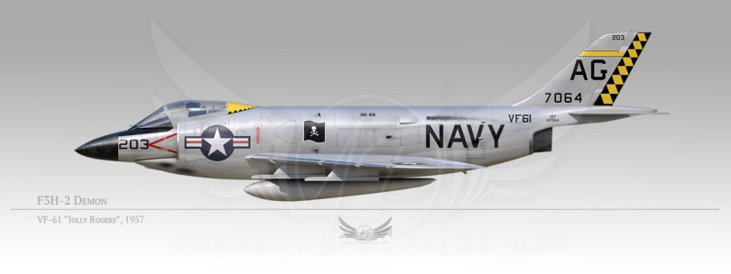 "F3H-2 Demon, VF-61 ""Jolly Rogers"", 1957"