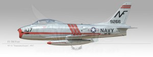 "FJ-3M Fury, VF-51 ""Screaming Eagles"", 1957"