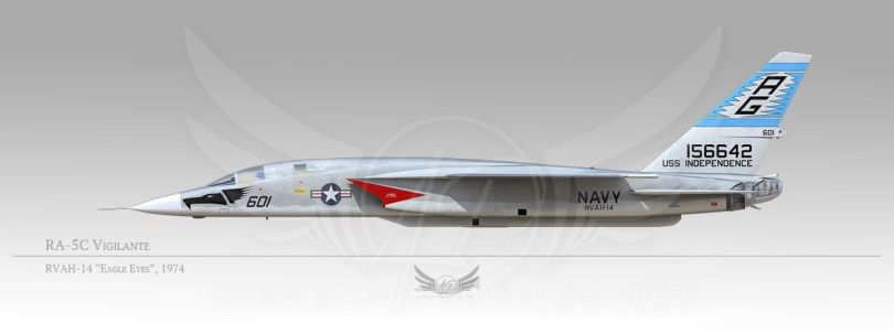"RA-5C Vigilante, RVAH-14 ""Eagle Eyes"", 1972"