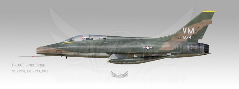F-100F Super Sabre, 35th Tactical Fighter Wing, 352nd Tactical Fighter Squadron, 1971