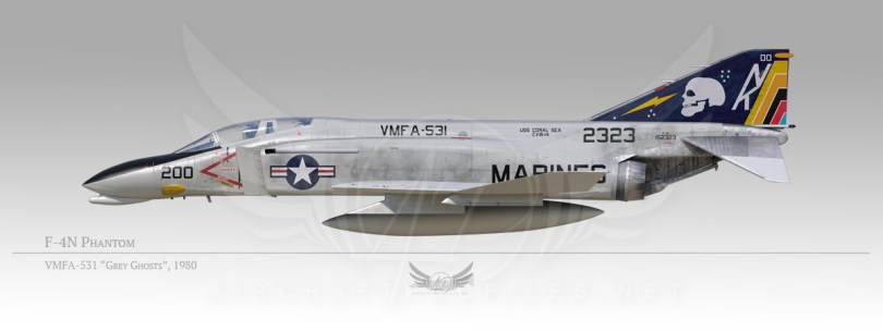 "F-4N Phantom, VMFA-531 ""Grey Ghosts"", 1980"