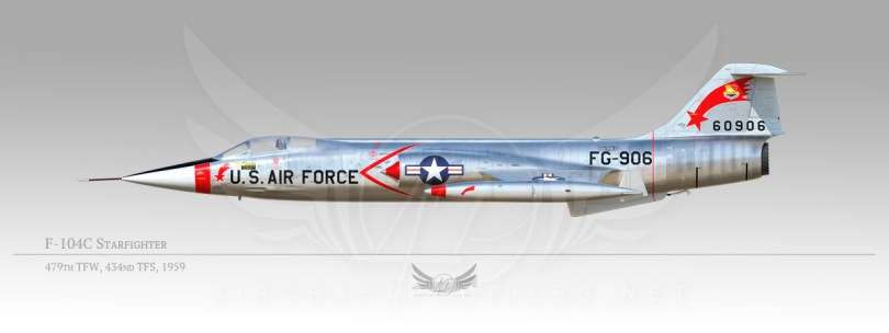 F-104C Starfighter, 479th Tactical Fighter Wing, 434nd Tactical Fighter Squadron, 1959