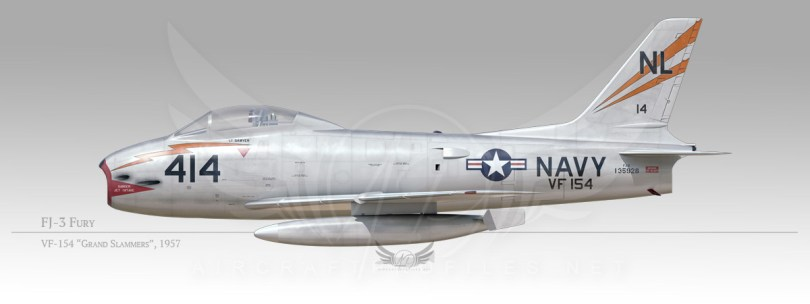 "FJ-3 Fury, VF-154 ""Grand Slammers"", 1957"