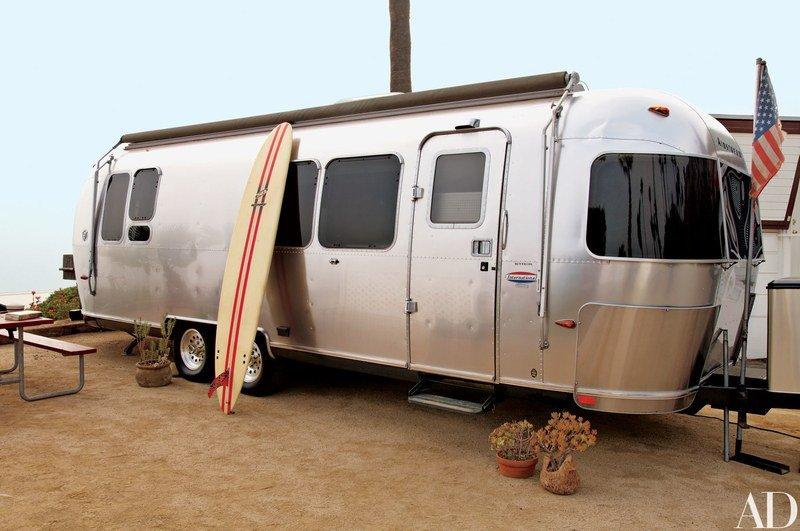 Matthew McConaughy's Airstream Trailer in Malibu