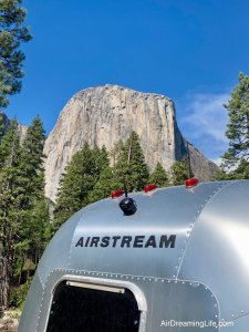 Tioga Pass in Yosemite towing an Airstream