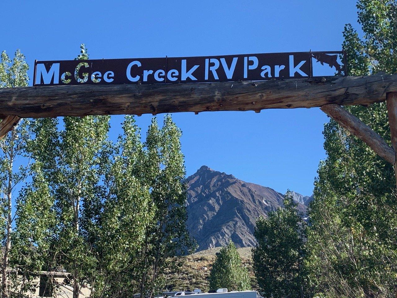 McGee Creek RV Park entrance