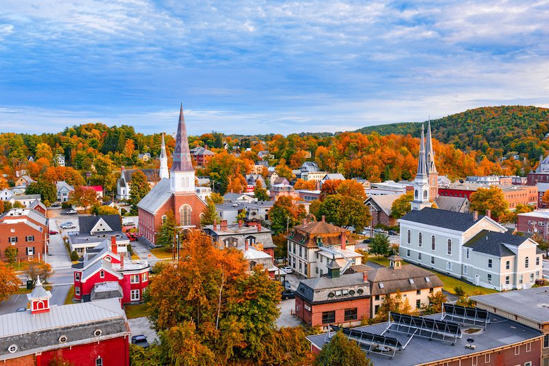 Burlington Vermont during the fall