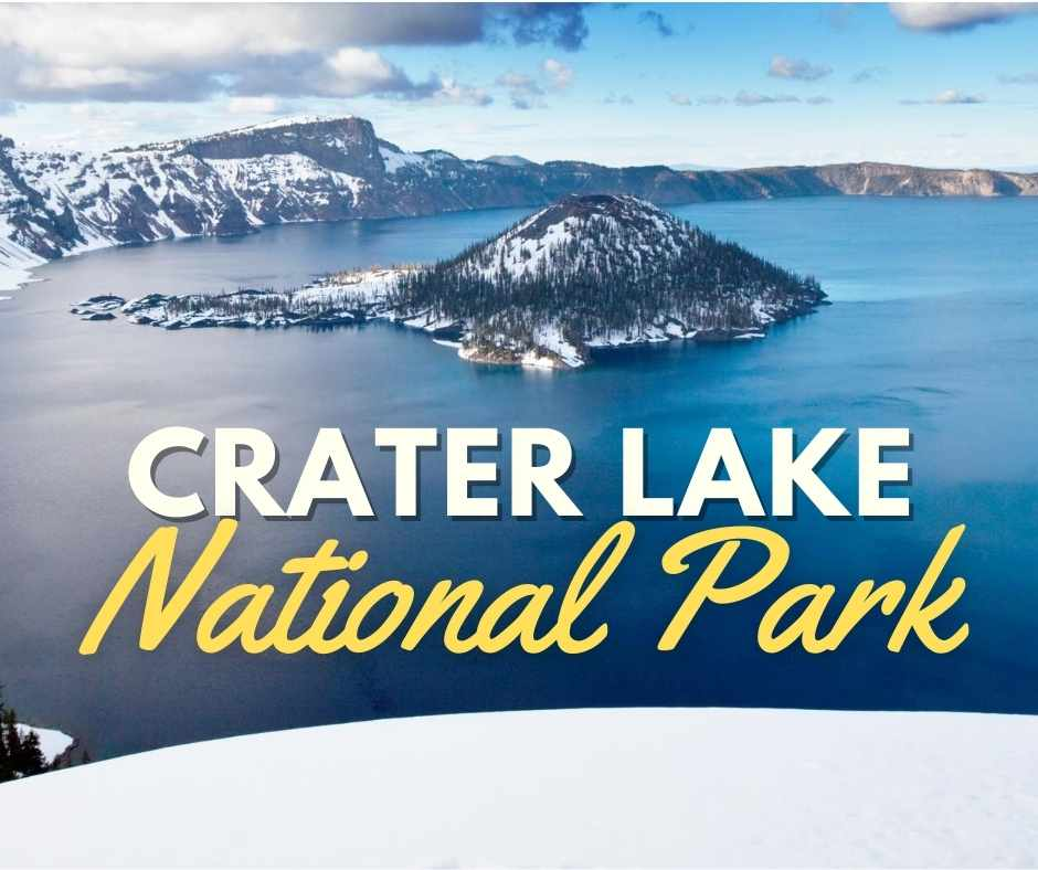 crater lake national park winter