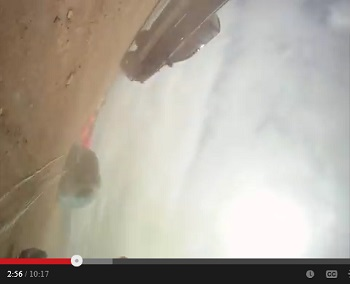 1ArmSkydiver, frame at 2.55 - laying on ground, head on left side