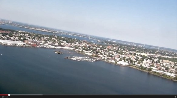 20120913.. 'Flight Over Flushing', (KLGA Whitestone Climb at approx. 5PM), screencap at time0.19