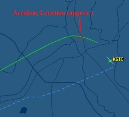 20140620.. Allegiant flight path, arr KSTC 2029, from FlightAware