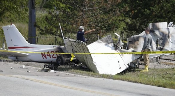 20140826.. KCGF C172 crash pic