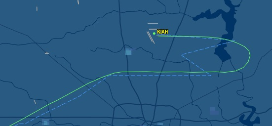 20141003.. KIAH map view for UAL1555, B738 from KPHX