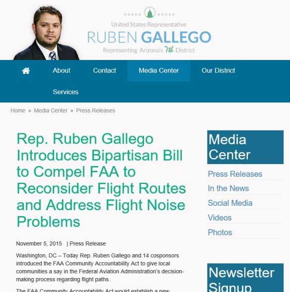 20151105scp.. Rep.R.Gallego Introduces FAA Community Accountability Act