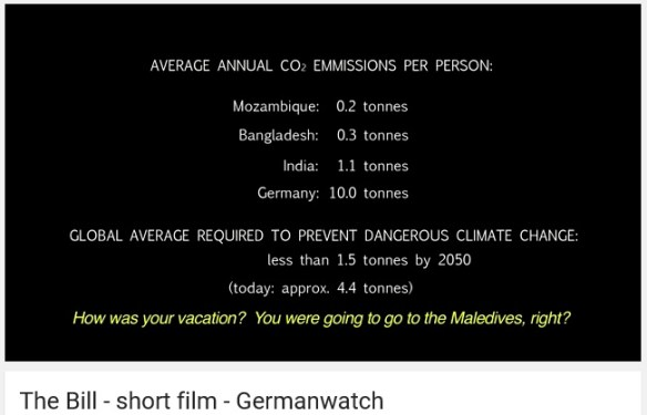 A short film by Germanwatch.org, about carbon-intensive living in Germany. Strong points made, especially at the finish.