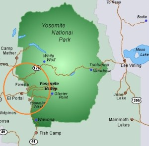 Yosemite NP map