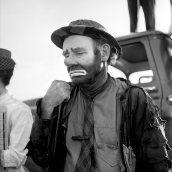 """Emmett Kelly as the clown figure """"Weary Willie"""", Undated"""