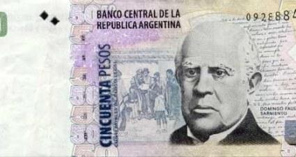 nota de 50 peso argentino