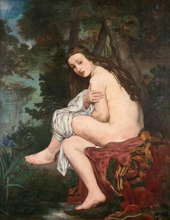 La ninfa sorprendida, do francês Édouard Manet