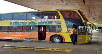 Chegando de ônibus em Buenos Aires