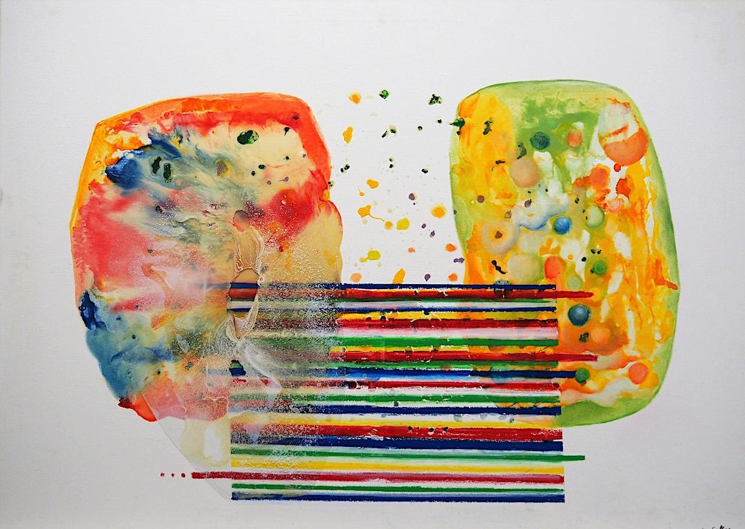 Diálogo en redes Técnica mixta, 100 x 100 cm