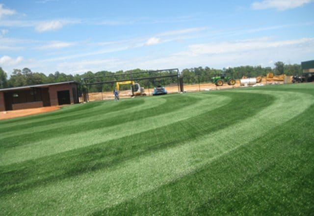 synthetic turf, artificial grass, sports field drainage