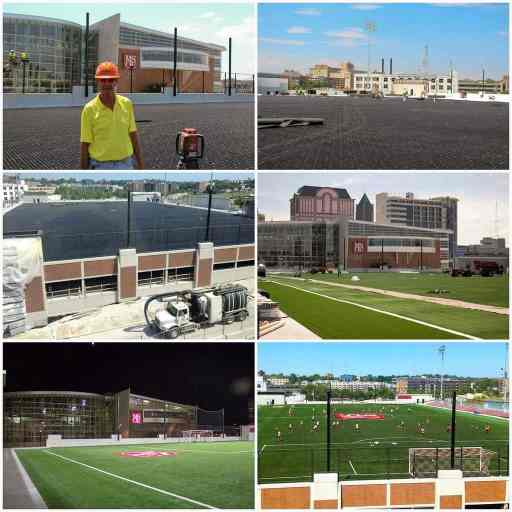 AirDrain, synthetic turf, artificial grass, drainage, shockpad,