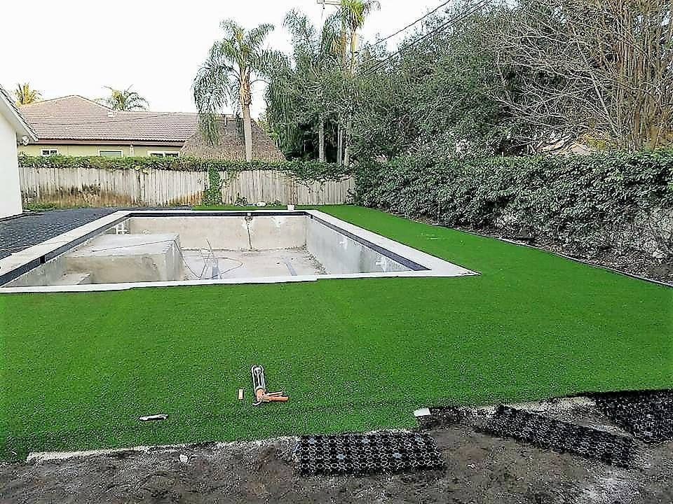 AirDrain Artificial Grass Drainage Pool Side Turf