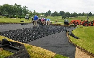 AirDrain, natural grass drainage, usga,