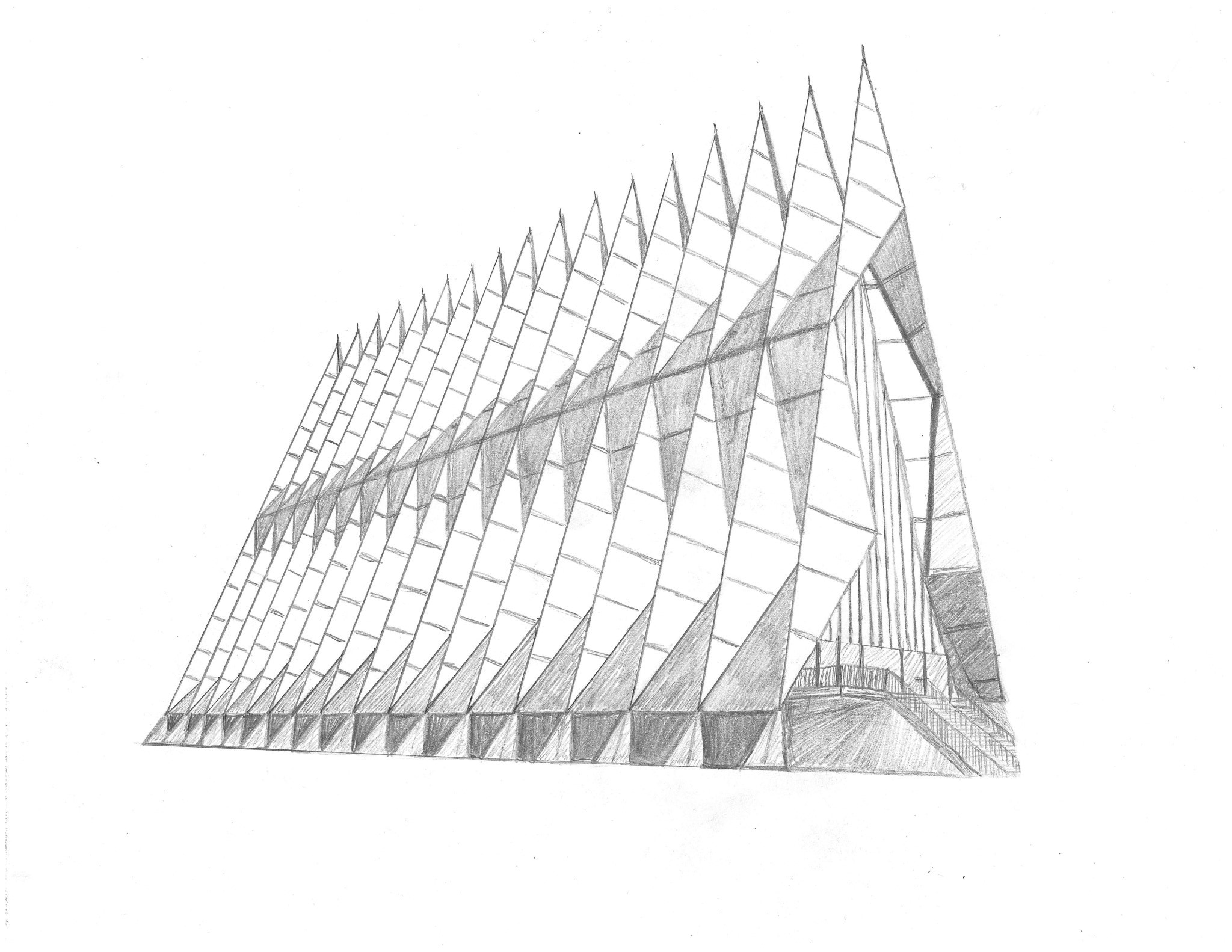 Air Force Academy Chapel Stunning Modern Architecture