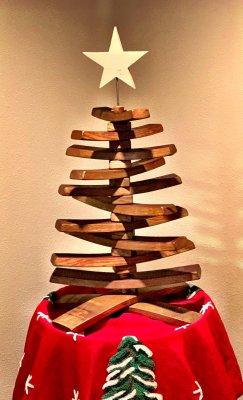 Handmade European Wine Barrel Christmas Tree Image