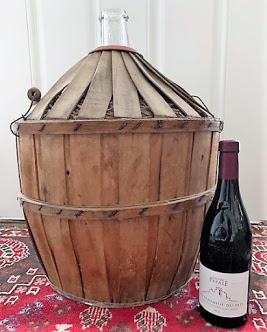 French Mid-Century Demijohn wrapped in Wicker (Large) Image