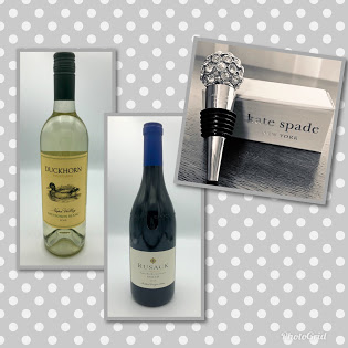 Kate Spade Wine Topper w/ Two Bottles of Wine Image