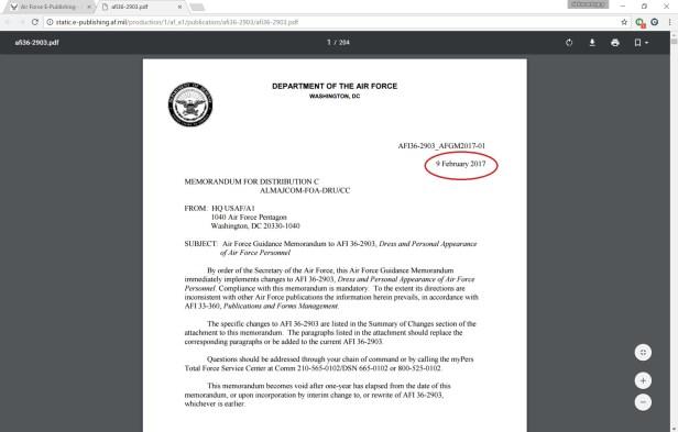 Uniform Guidelines – Air Force Journey