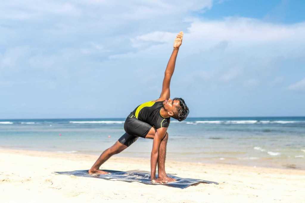 Practice Yoga on the Beach