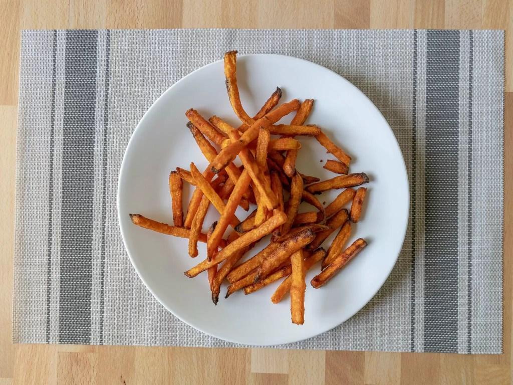 Air fried Alexia Sweet Potato Fries