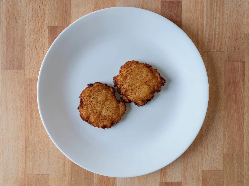 Air fried Trader Joe's Latke Potato Pancakes