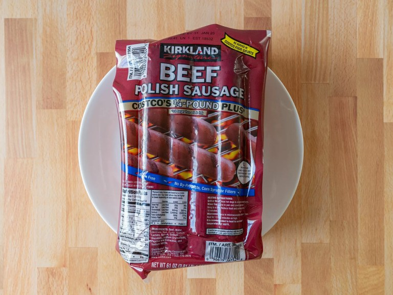 How to cook Costco Kirkland Beef Polish Sausage in an air fryer