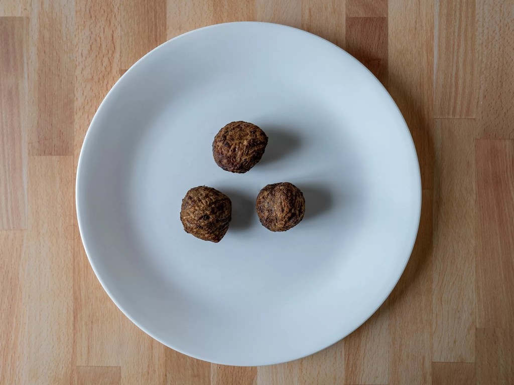 Air fried Gardein Classic Meatless Meatballs