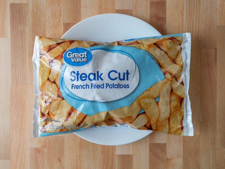 How to air fry Great Value Steak Cut French Fried Potatoes
