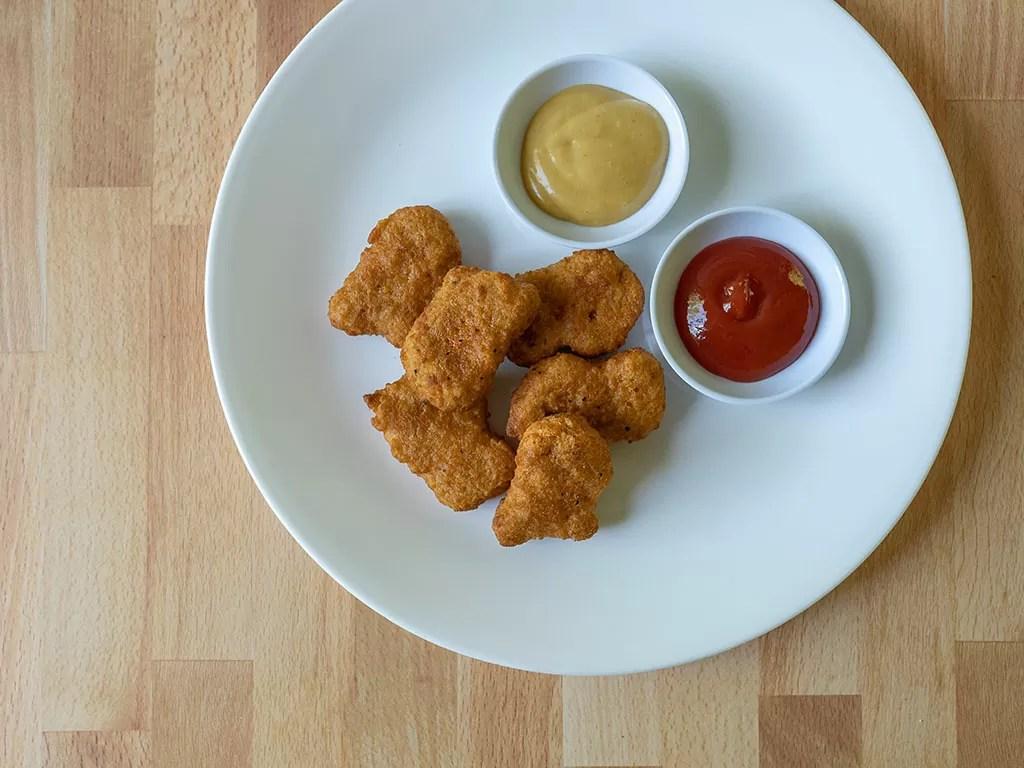 Air fried Nuggs plant based chicken nuggets