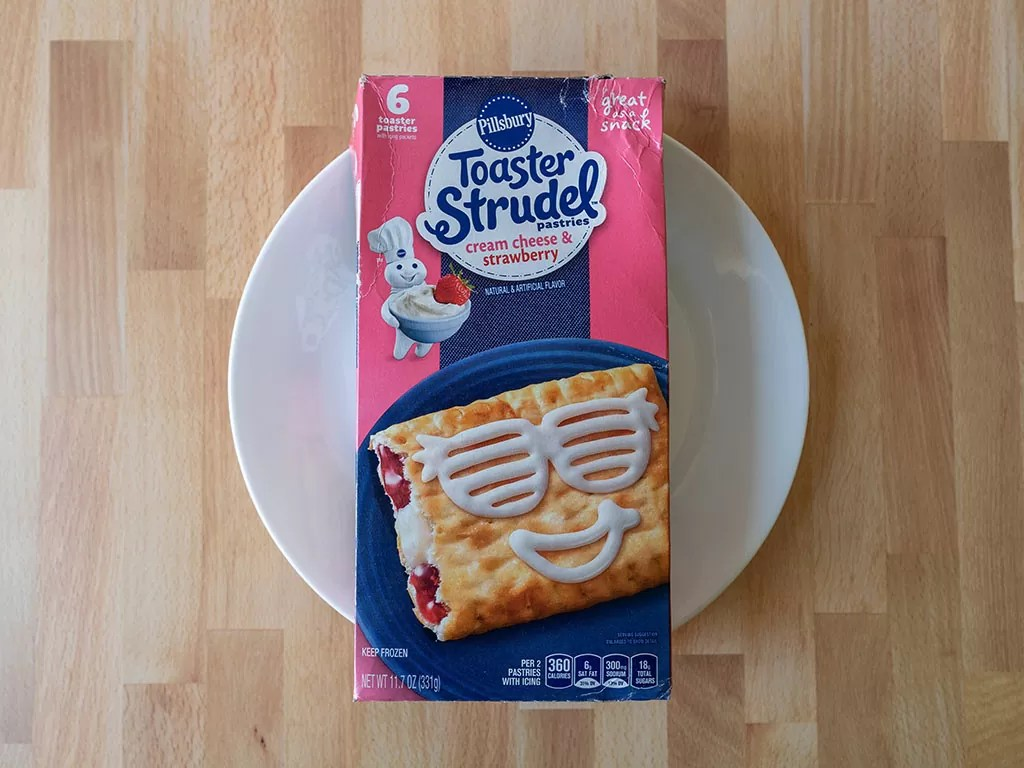 Cream Cheese And Strawberry Toaster Strudel