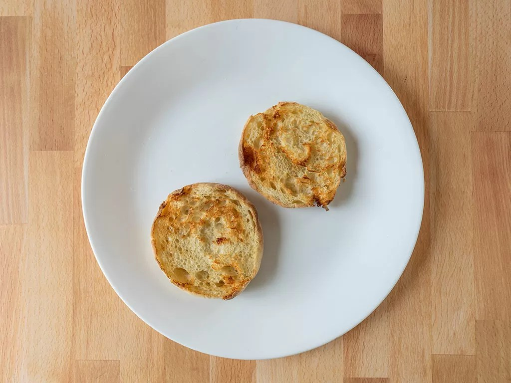 Air fried English muffins