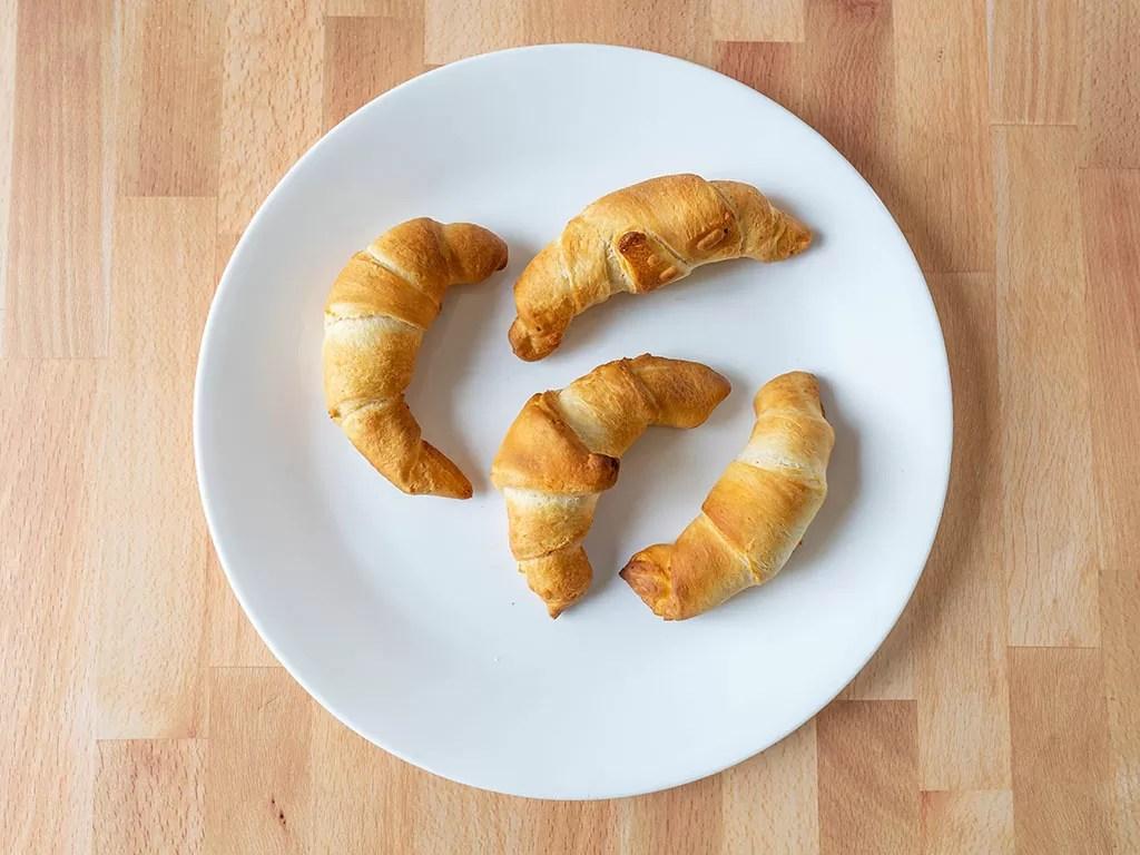 Air fried crescent rolls