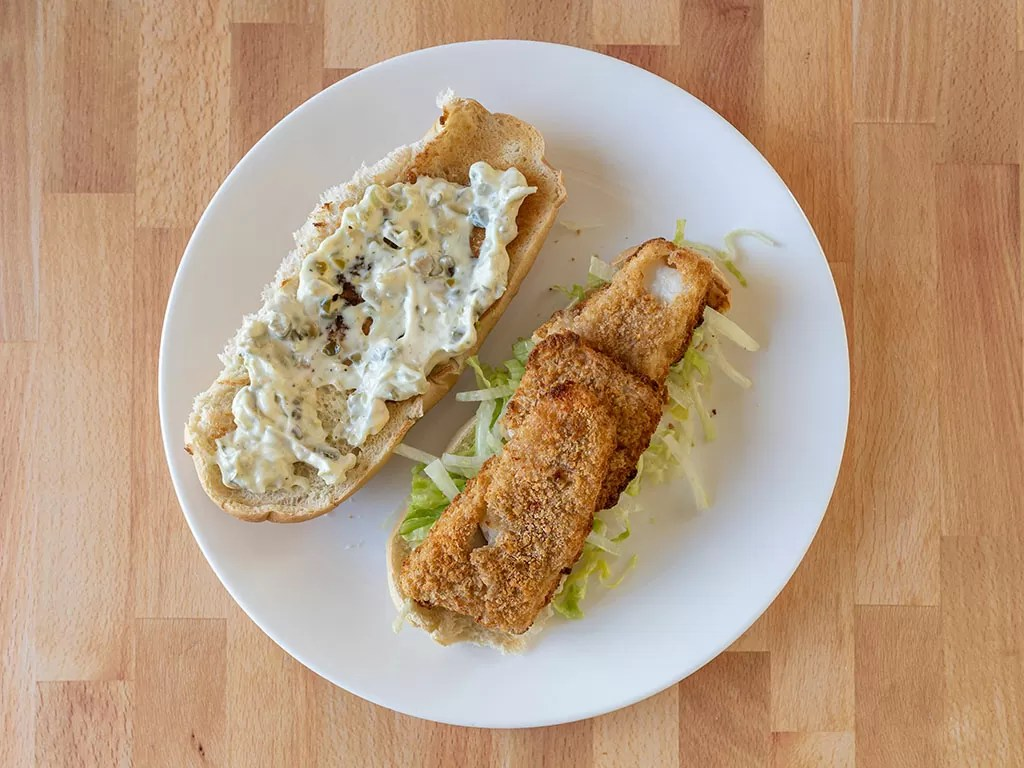 Air fried Gorton's Natural Catch Fish Fillets