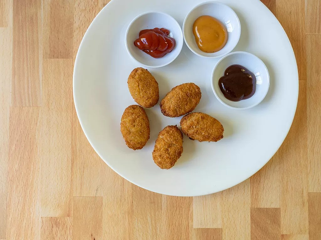 Air fried Great Value Breaded Chicken Nuggets