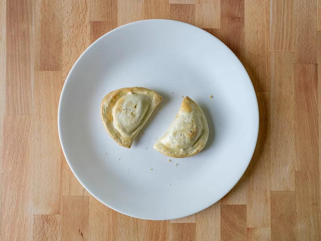 Air fried Mrs T's Classic Onion Pierogies