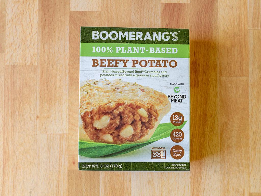 Boomerang's Beefy Potato Plant-Based pie