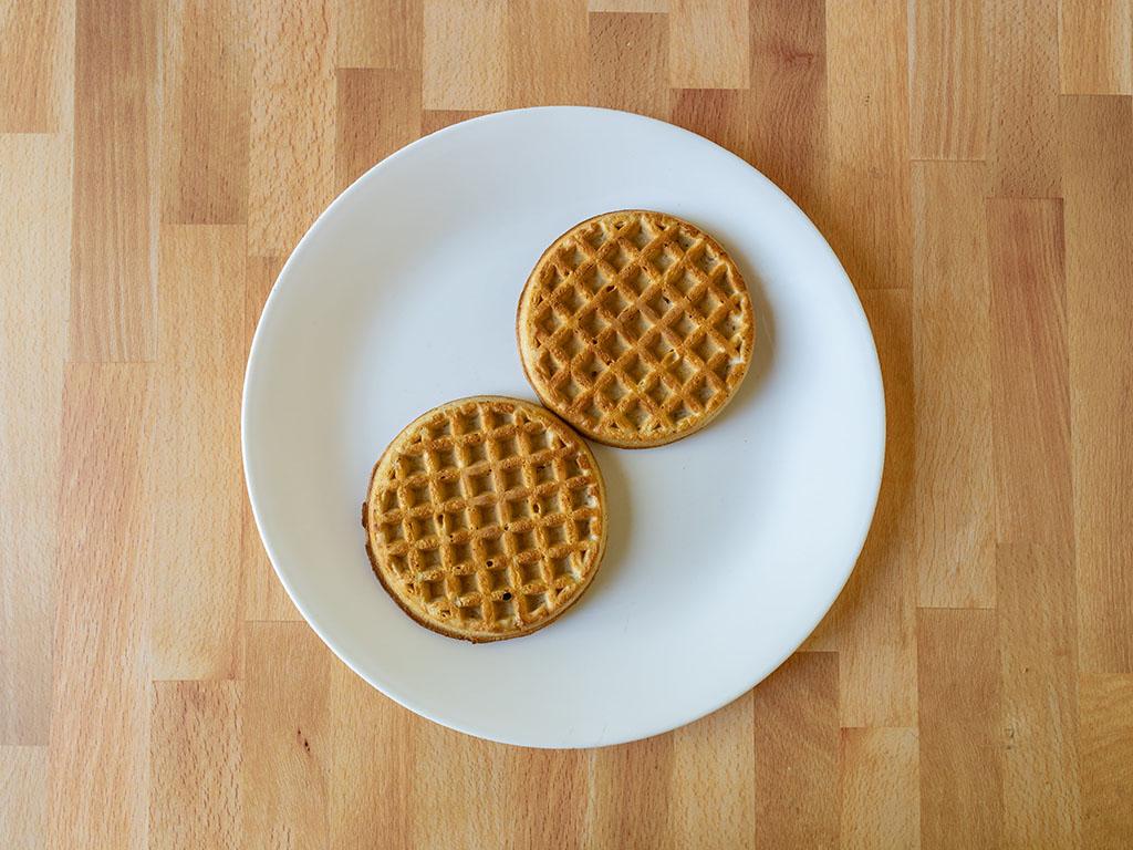 Air fried Kodiak Cakes Power Waffles