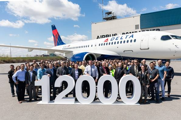 Airbus celebrates 12.000th delivery